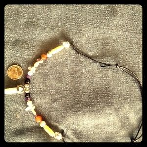Hand made White marble necklace